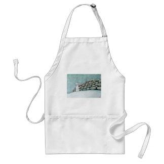 Ermine in the snow standard apron