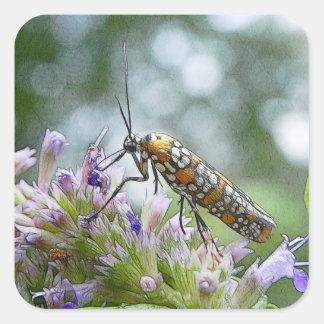 Ermine Moth on Agastache Square Sticker