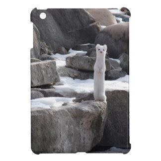 Ermine On Snowy Rocks Case For The iPad Mini