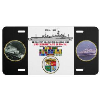 ERMITA DE USS (LSD-34) PLACA DE MATRÍCULA