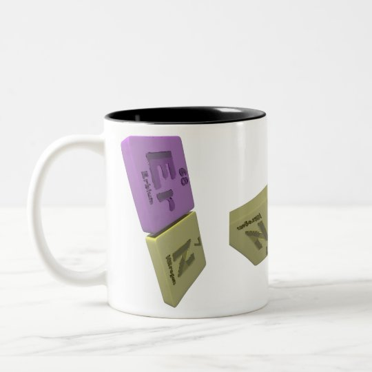 Ern as Er Erbium and N Nitrogen Two-Tone Coffee Mug
