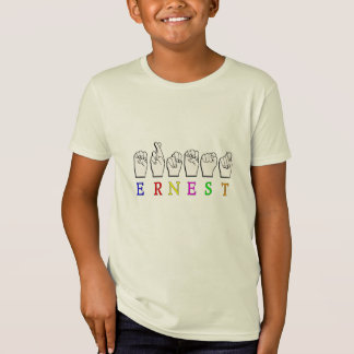 ERNEST FINGERSPELLED NAME ASL SIGN T-Shirt