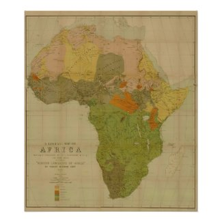 Ernest George Ravenstein - Language Map of Africa Posters