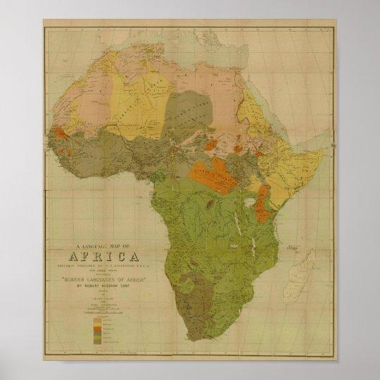Ernest George Ravenstein - Language Map of Africa Poster