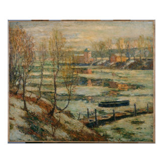 Ernest Lawson - Ice in the River Print
