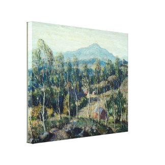 Ernest Lawson - New England Birches Gallery Wrapped Canvas