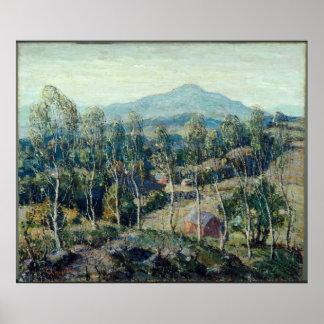 Ernest Lawson - New England Birches Poster