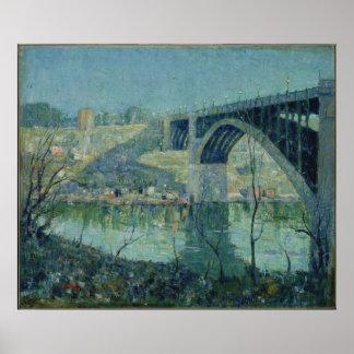 Ernest Lawson - Spring Night, Harlem River Print