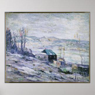 Ernest Lawson - Windy Day, Bronx River Print