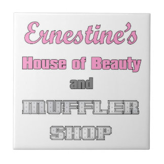 ERNESTINE'S HOUSE OF BEAUTY SMALL SQUARE TILE