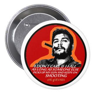 """Ernesto """"Che"""" Guevara Pin Redondo De 3 Pulgadas"""