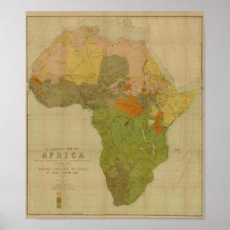 Ernesto George Ravenstein - mapa de la lengua de Póster