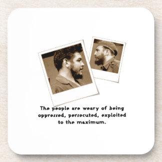 Ernesto Guevara y Fidel Posavasos