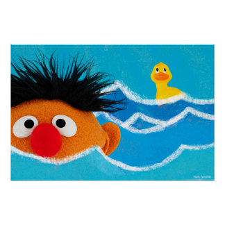 Ernie and Rubber Ducky Poster