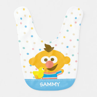 Ernie Baby Face and Duckie | Add Your Name Baby Bib