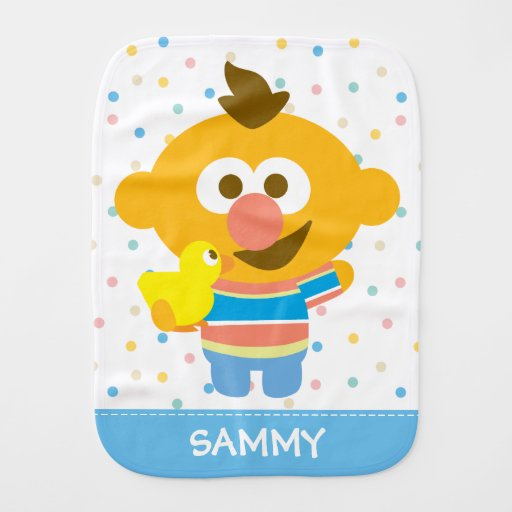 Ernie Baby Face and Duckie Burp Cloths