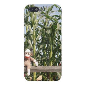 Ernie el caso del iPhone 4 del mono del calcetín iPhone 5 Funda