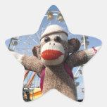 Ernie el pegatina de la estrella del mono del calc