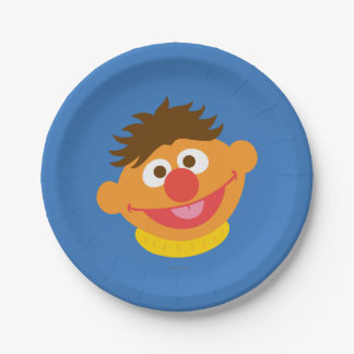 Ernie Face Paper Plate