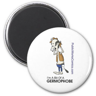 Ernie Germaphobe 2 Inch Round Magnet