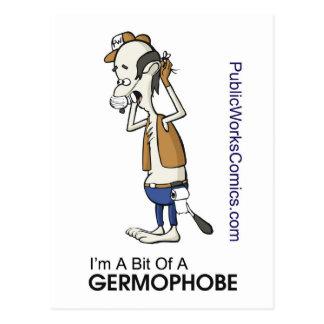 Ernie Germaphobe Postcard