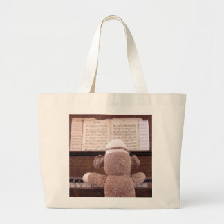 Ernie la bolsa de asas del piano del mono del