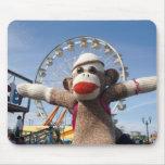 Ernie la noria Mousepad del mono del calcetín Tapetes De Ratón