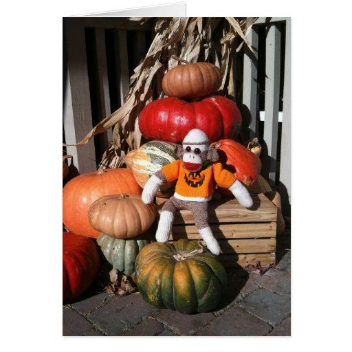Ernie la tarjeta de la calabaza de Halloween del m
