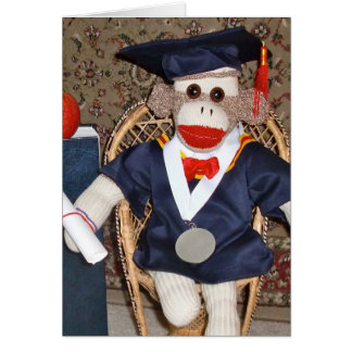 Ernie la tarjeta de la graduación del mono del