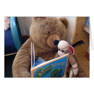 Ernie la tarjeta de nota de la lectura del mono de