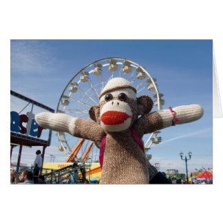 Ernie la tarjeta de nota de la noria del mono del