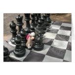 Ernie la tarjeta de nota del ajedrez del mono del