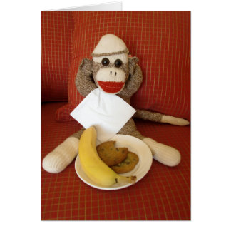 Ernie la tarjeta de nota del bocado del mono del c