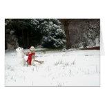 Ernie la tarjeta del día de fiesta de Snowday del
