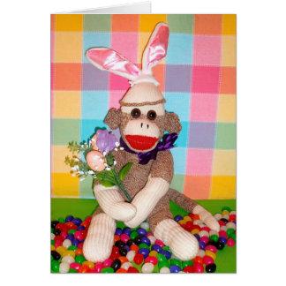 Ernie la tarjeta del ramo de Pascua del mono del