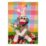 Ernie la tarjeta del ramo de Pascua del mono del c