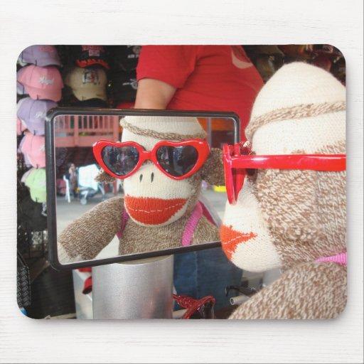 Ernie las gafas de sol Mousepad del mono del calce Alfombrilla De Raton