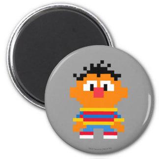 Ernie Pixel Art 2 Inch Round Magnet
