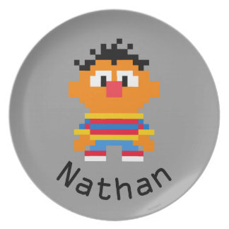 Ernie Pixel Art | Add Your Name Melamine Plate