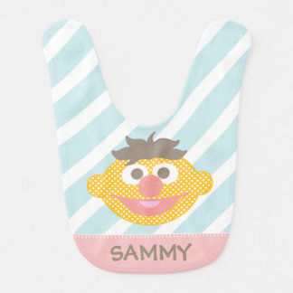 Ernie Polka Dot Big Face | Add Your Name Baby Bib