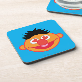 Ernie Smiling Face with Heart-Shaped Eyes Beverage Coaster