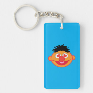 Ernie Smiling Face with Heart-Shaped Eyes Keychain