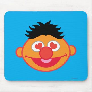 Ernie Smiling Face with Heart-Shaped Eyes Mouse Pad