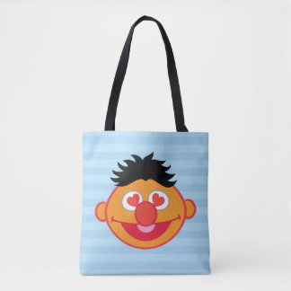 Ernie Smiling Face with Heart-Shaped Eyes Tote Bag