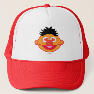 Ernie Smiling Face with Heart-Shaped Eyes Trucker Hat