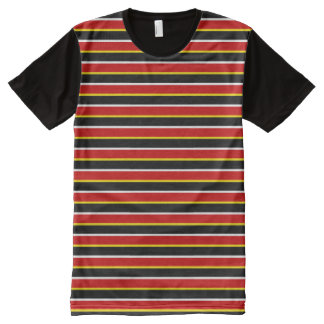 ernie striped All-Over print t-shirt