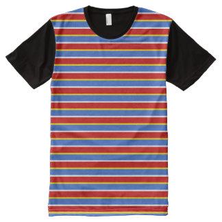 ernie stripes All-Over print shirt