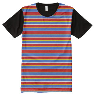 ernie stripes All-Over print t-shirt