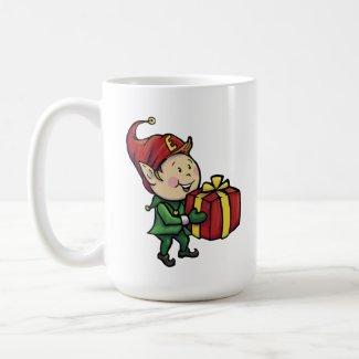 Ernie the Elf Christmas Mug