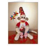 Ernie the Sock Monkey 25th Birthday Card